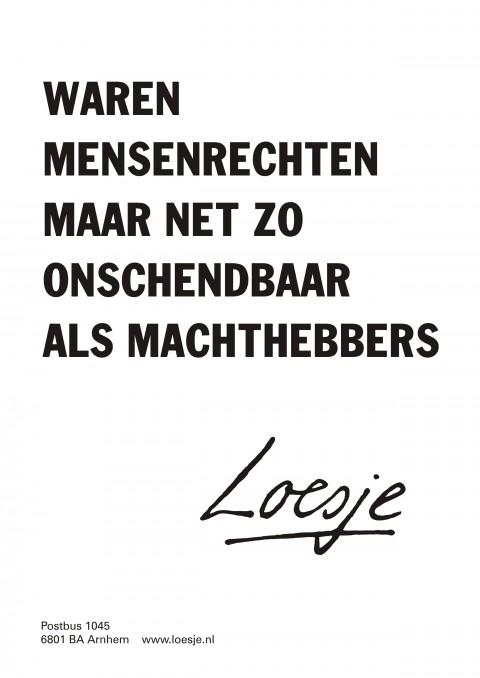 Loesje - Poster Mensenrechten