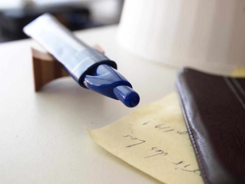 A pen by my side...