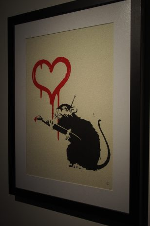 Banksy has a thing for rats. In fact they symbolise his alternative methods for his art...