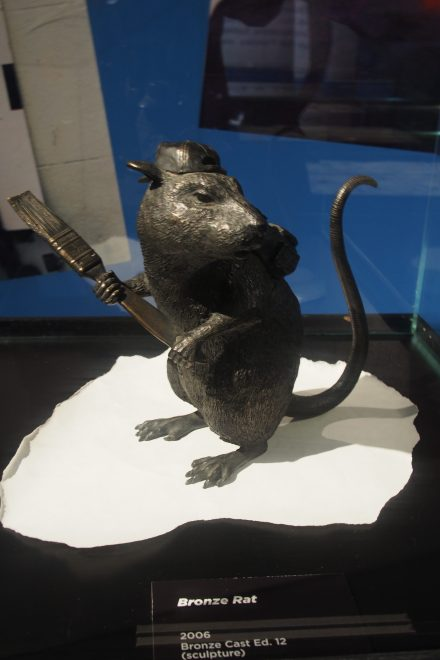 A sculptor immortalised Banksy's much loved street rat...
