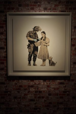 A theme Banksy often revisits...
