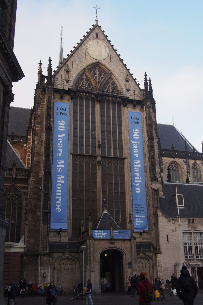 In the church at Dam Square there is a worthwhile exhibition...