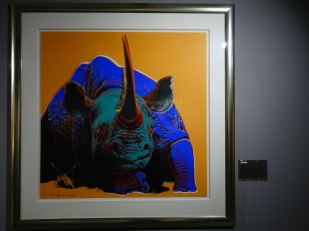 Warhole's rhino print really stood out...