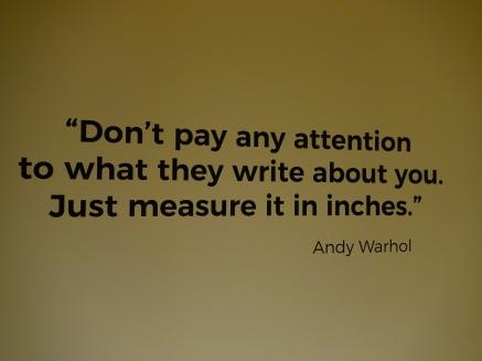 Warhole on critics.