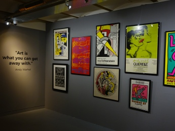 Pop-Art posters from the past.