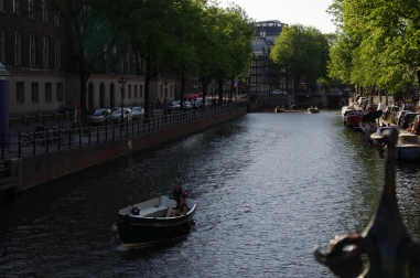 The canals connect Amsterdam.