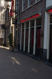 The Red Light District was empty...